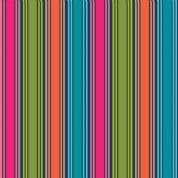 Papillon by Makower UK - 5163 - Multicoloured Brights, Stripe on Navy - 1765_N - Cotton Fabric